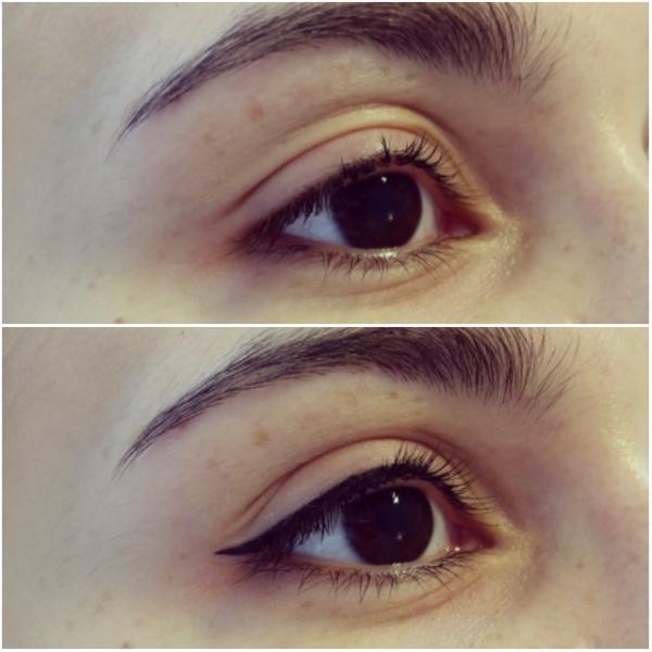 Delikatne, idealne kreski na górnych powiekach - perfekcyjny makijaż permanentny klinika miracki warszawa
