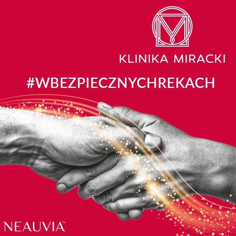 Dyrektor Generalna Karina Dudek-Miracka i dr Krzysztof Miracki na konferencji prasowej #wbezpiecznychrekach!