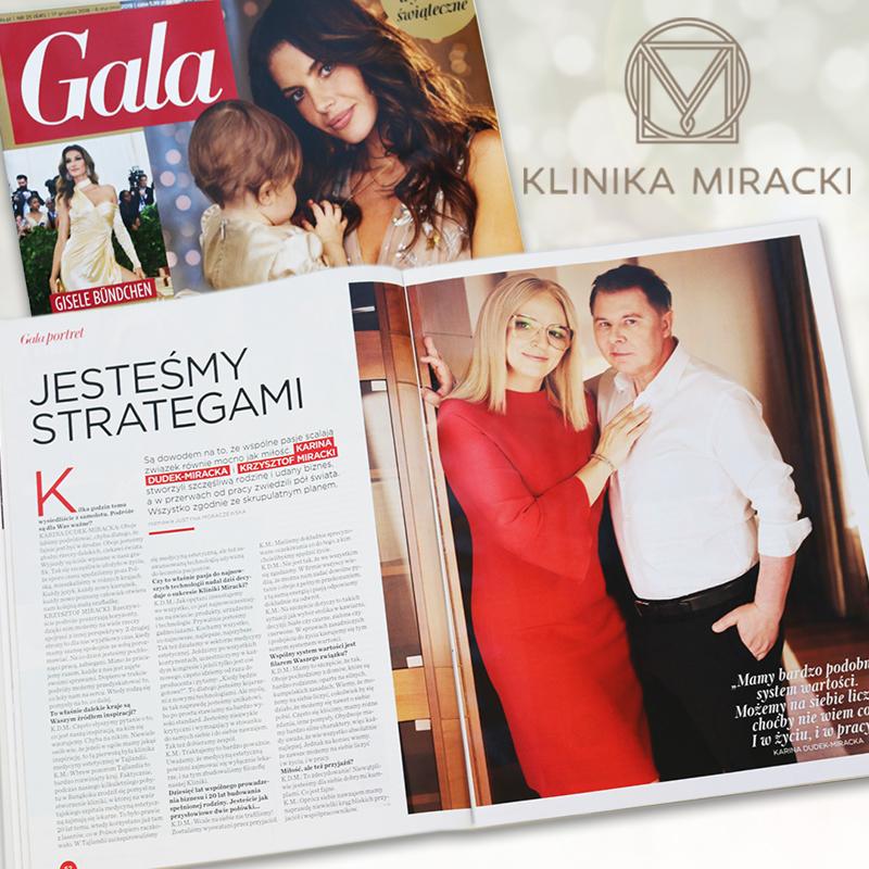 """""""Jesteśmy strategami"""" – wywiad z Panią Kariną Dudek-Miracką i doktorem Krzysztofem Mirackim w świątecznym wydaniu Gali"""