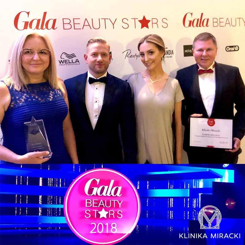 Zwycięstwo i specjalne wyróżnienie Kliniki Miracki w plebiscycie Gala Beauty Stars 2018!