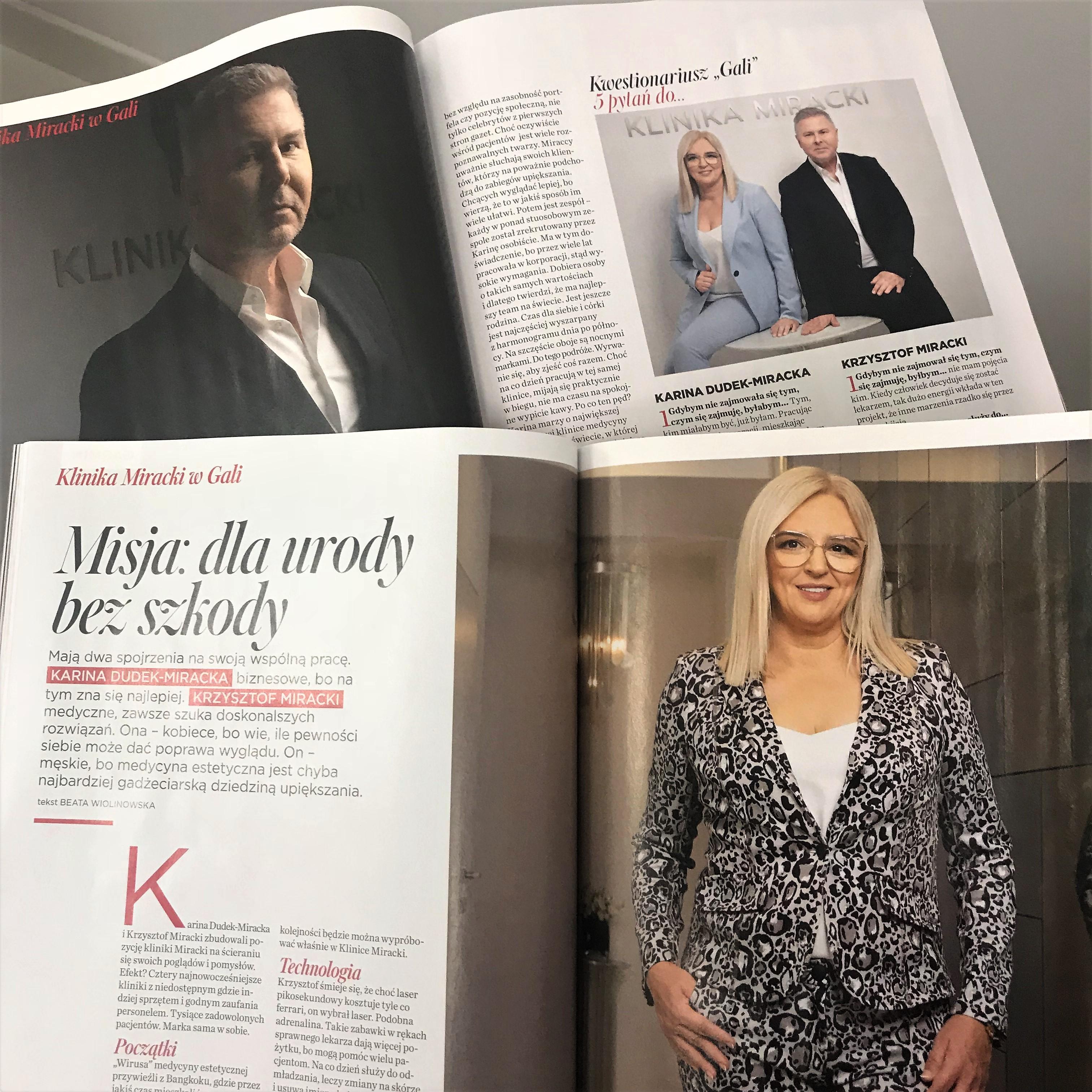 """""""Misja: dla urody bez szkody"""" – Dyrektor Generalna Karina Dudek-Miracka i dr Krzysztof Miracki dla magazynu Gala"""